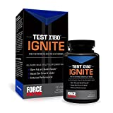Force Factor Test X180 Ignite, Free Testosterone Booster to Build Muscle + Burn Fat, 120 Count