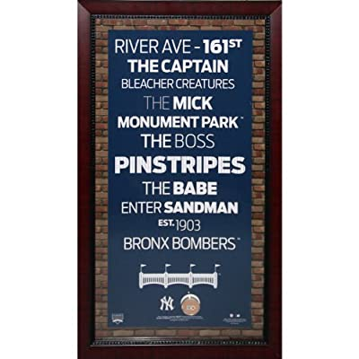 MLB New York Yankees Subway Sign Wall Art with Authentic Dirt from Yankee Stadium, 16x32-Inch