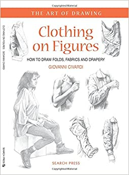 how to draw folds in clothing with charcoal