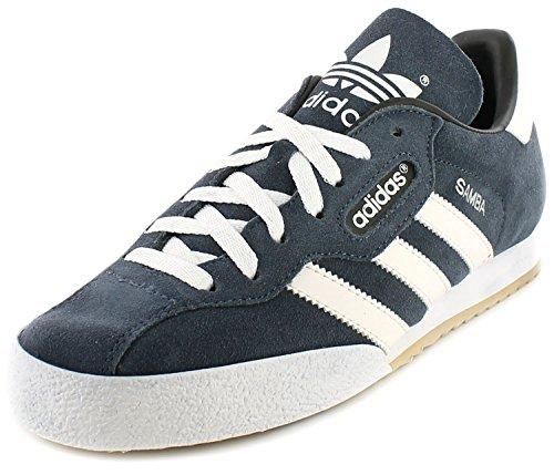 Adidas Samba Super Camoscio Indoor Calcio Scarpe Da Ginnastica - Scamosciato Navy/Bianco - NUMERI GB 6-13 - 43 EU