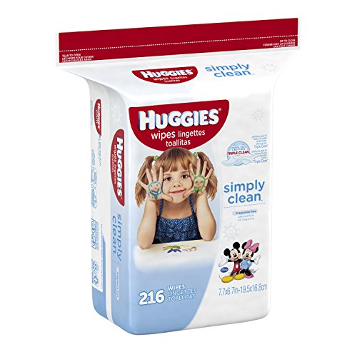 Huggies Simply Clean Baby Wipes, Unscented, Refill