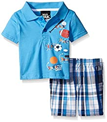 Boys Rock Baby 2 Pc Short Set Astronaut, Blue, 24 Months
