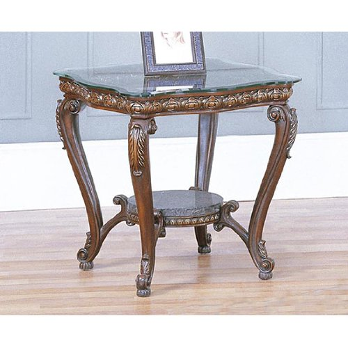 Image of Home Line Antique Cherry End Table T301E (T301E)