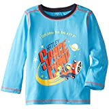 Hatley Big Boys' Space Cars Tee in Blue