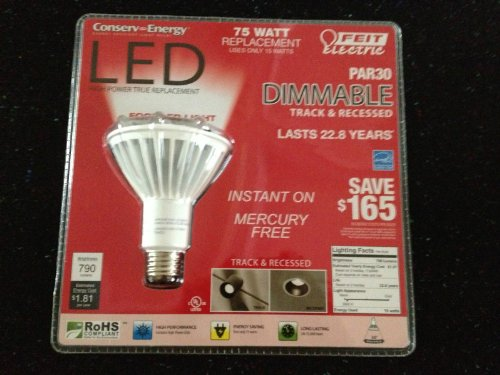 *Lot Of 10 Pcs* Feit Electric: Par30 Dimmable Led Flood ~ 75 Watt Replacement Uses 15 Watts