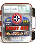 First Aid Kit Hard Red Case 326 Piece...