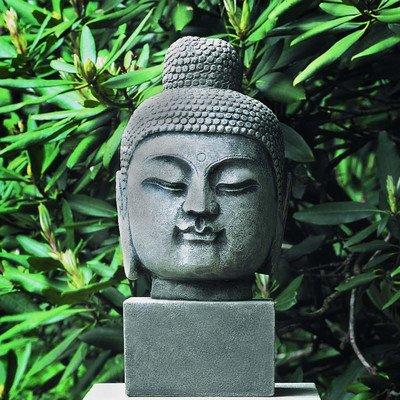 Antique Buddha Head Statue Color: Alpine Stone