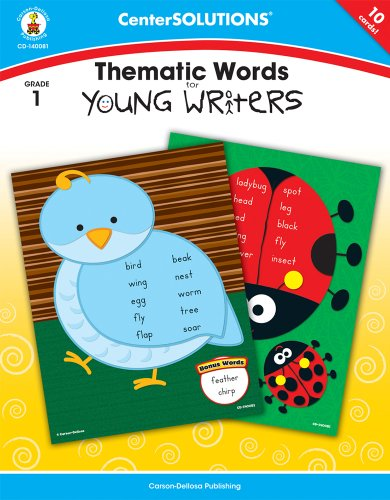 Carson-Dellosa Publishing Thematic Words for Young Writers Grade 1