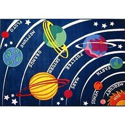 Fun Time Solar System Classroom Rug Size: 1\'7\