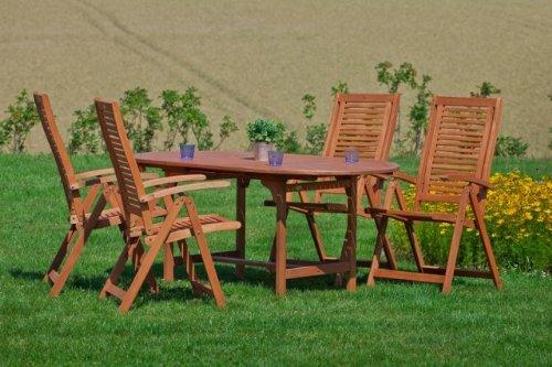 Gartenmöbel-Set Gartengruppe Gartenmöbel Klappstühle Tisch aus Eukalyptusholz jetzt bestellen