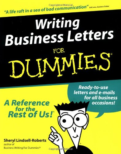 Writing Business Letters For Dummies?