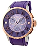 Mulco MW3-10302-053 52 Stainless Steel Case Purple Plastic Band Men's & Women's Watch