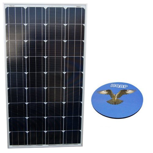 Hqrp 120W Mono-Crystalline Solar Panel 120 Watt 12 Volt In Solid Aluminium Frame Pv Module For Rv Car Boat Caravan Bike Trailer Plus Hqrp Coaster