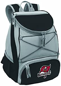 NFL Tampa Bay Buccaneers PTX Insulated Backpack Cooler, Black by Picnic Time