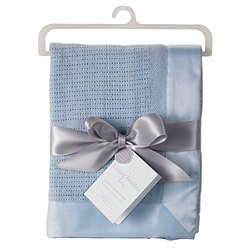 Living Textiles Cell Blanket, Blue - 1