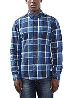 edc by ESPRIT Camisa Hombre 106cc2f001 (Azul)