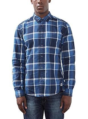edc by ESPRIT Camisa Hombre (Azul)