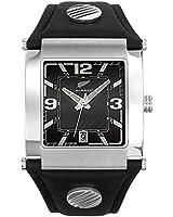 All Blacks - 680001 - Montre Homme - Quartz Analogique - Cadran Noir - Bracelet Cuir Noir