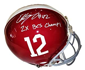 Eddie Lacy Signed Alabama Authentic Helmet 2X Champ - Autographed College Helmets by Sports+Memorabilia