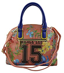 Nicole Lee Numeric 15 Print Satchel Bag