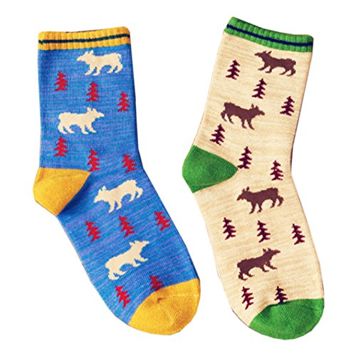Deer Mum Women'S 2 Pairs Lovely Bear And Tree Cotton Socks front-967744