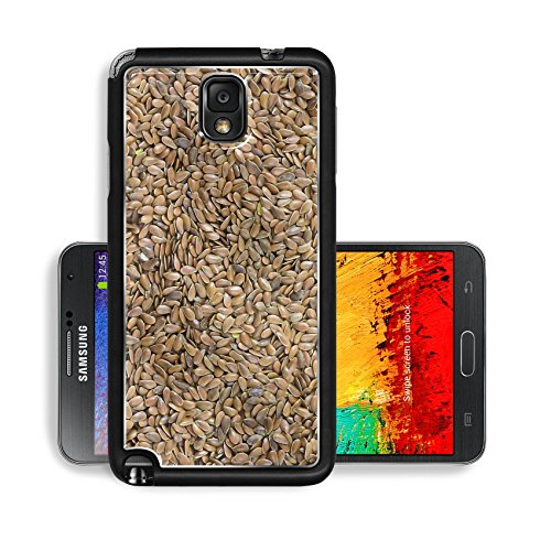 Liili Premium Samsung Galaxy Note 3 Aluminum Backplate Bumper Snap Case Background Brown Healthy Linen Image 1790 (Samsung Omega Lcd Screen compare prices)