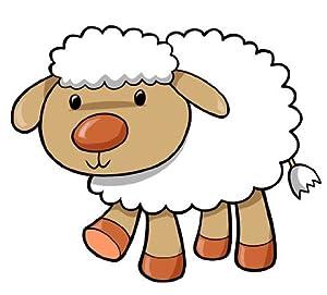 Amazon.com: Children's Wall Decals - Cartoon Baby Lamb