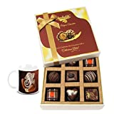 Chocholik Belgium Chocolates - 9pc Special Love Combo Wishes With Diwali Special Coffee Mug - Diwali Gifts