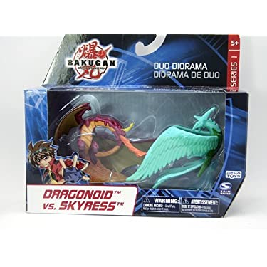 Bakugan Battle Brawlers Duo Diorama   Dragonoid Vs Skyress