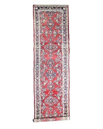 "Bashian Rugs Hand-Knotted Persian Hamadan Rug, Red, 4' 2"" x 16' Runner"
