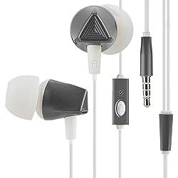 Kingyou KF01 Earphone Earbud High Definition In Ear Headphone With Mic - Grey