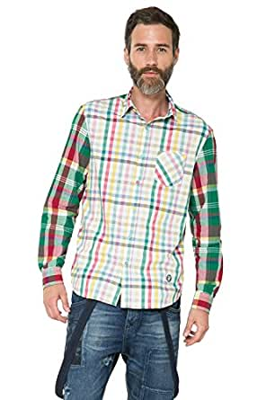 Shirt Cuadros Patch at Amazon Men's Clothing store: