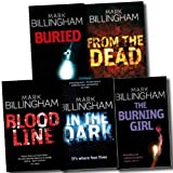 Tom Thorne Novels Series Collection Mark Billingham 5 books Set (From the Dead, Buried, The Burning Girl, Blood line, In the dark) Mark Billingham