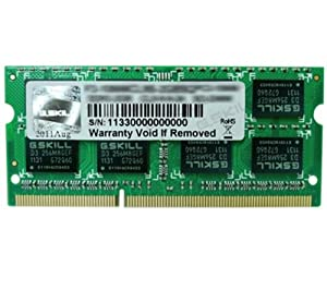G.Skill F3-10666CL9S-4GBSQ 4GB 204-Pin DDR3 SO-DIMM DDR3 1333 (PC3 10600) Laptop Memory