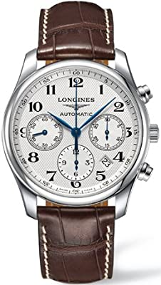 Longines Master Chronograph Automatic Silver Dial Mens Watch L27594783 by Longines