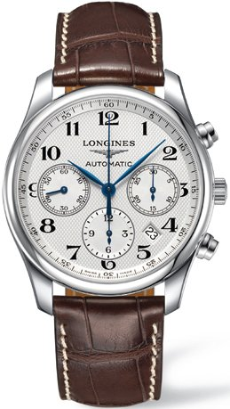 Longines Master Chronograph Automatic Silver Dial Mens Watch L27594783
