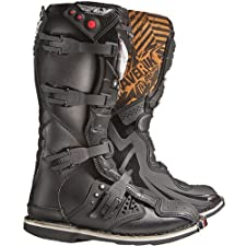 Fly Racing Maverik MX Kids Off-Road/Dirt Bike Motorcycle Boots - Black / Size 10