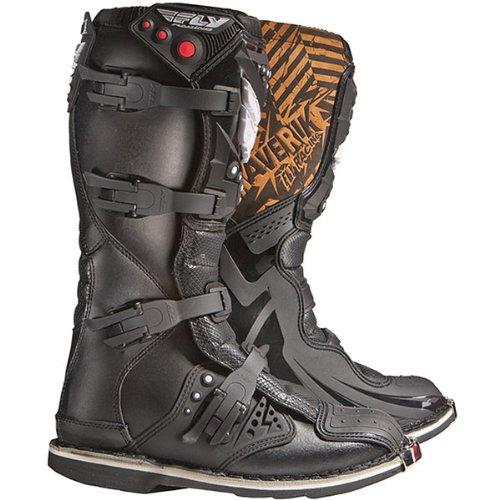 Fly Racing Maverik MX Adult Off-Road/Dirt Bike Motorcycle Boots - Color: Black, Size: 10