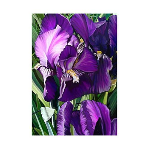 Decorative Accessories Purple Iris Banner Love Good And Luck Print Flags Of Double Sided 100% Polyester And Waterproof Fade And Mildew Resistant Custom Outdoors Banners 28 X 40 Inch