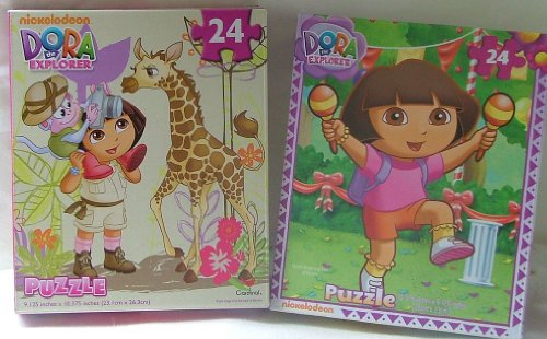 TWO Dora the Explorer 24 Piece Puzzles. - 1