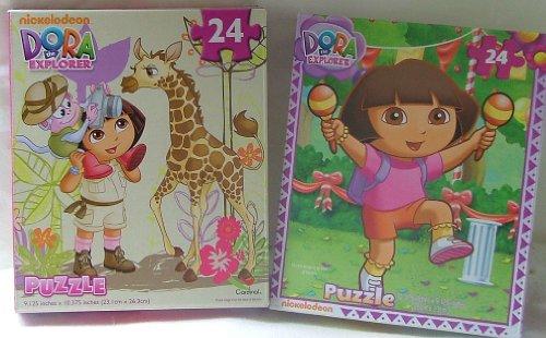 TWO Dora the Explorer 24 Piece Puzzles. - 1