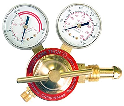 Flame Technologies VMAR-22 Medium Duty Acetylene Regulator, Victor Compatible