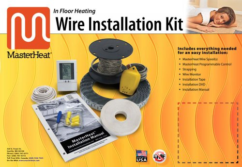 Masterheat 80 Sq.Ft. In Floor Heating Wire Installation Kit 120V