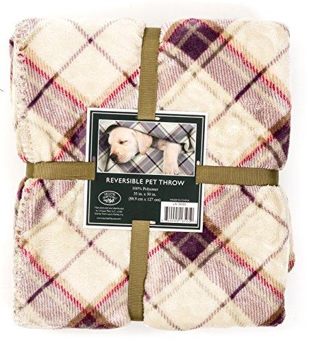Laura-Ashley-Reversible-Micro-Fur-Pet-Dog-Bed-Blanket-Throw