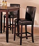 Set of 2 Bar Stools - Contemporary Brown Color