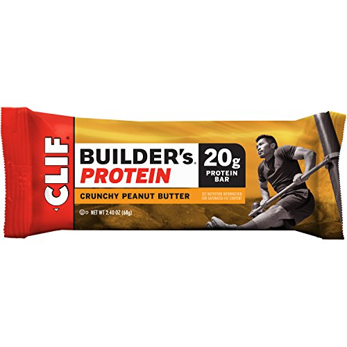 CLIF BUILDER'S - Protein Bar - Crunchy Peanut Butter - (2.4 oz, 12 Count) (Cliff Bars Builder Bars compare prices)