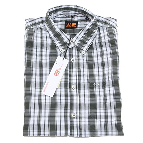 8428 camicia short sleeve SUN68 camicie uomo shirt men [S]