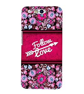 Follow Love 3D Hard Polycarbonate Designer Back Case Cover for In Focus M812 :: InFocus M 812