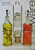 Circleware Cruet Set Two-Piece 14 oz with Caddy and One Pair 3 oz Salt & Pepper Shakers