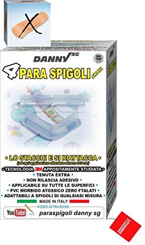 paraspigoli, sicurezza giochi prima infanzia -Danny sg - (4 ANGOLARI SMALL-Trasparente)